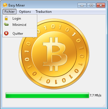 EasyMiner main window